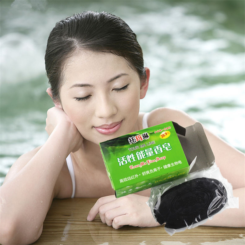 Discounted Bamboo Charcoal Handmade Soap Remove Blackhead Acne Skin Whitening Soap Cleaner Makeup Remover Skin Whitening Soap