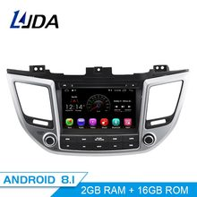 LJDA Android 8,1 dvd-плеер автомобиля для hyundai Tucson/IX35 2016 2017 2Din автомобилей Радио gps-навигация стерео wi-fi-мультимедиа autoaudio