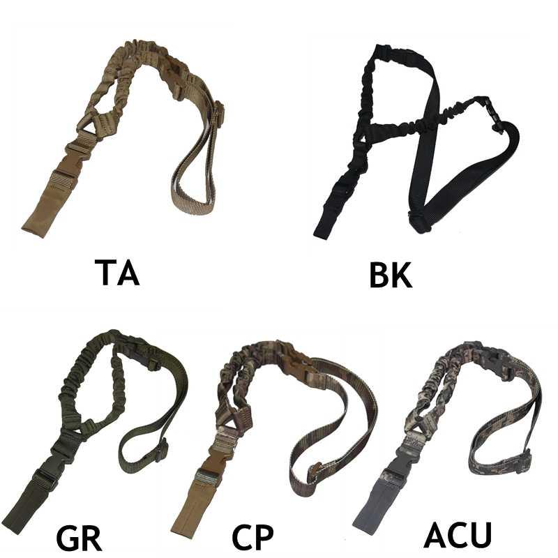 戦術銃スリング調節可能なワンシングルポイントライフル銃スリングストラップシステムエアガン狩猟アクセサリー