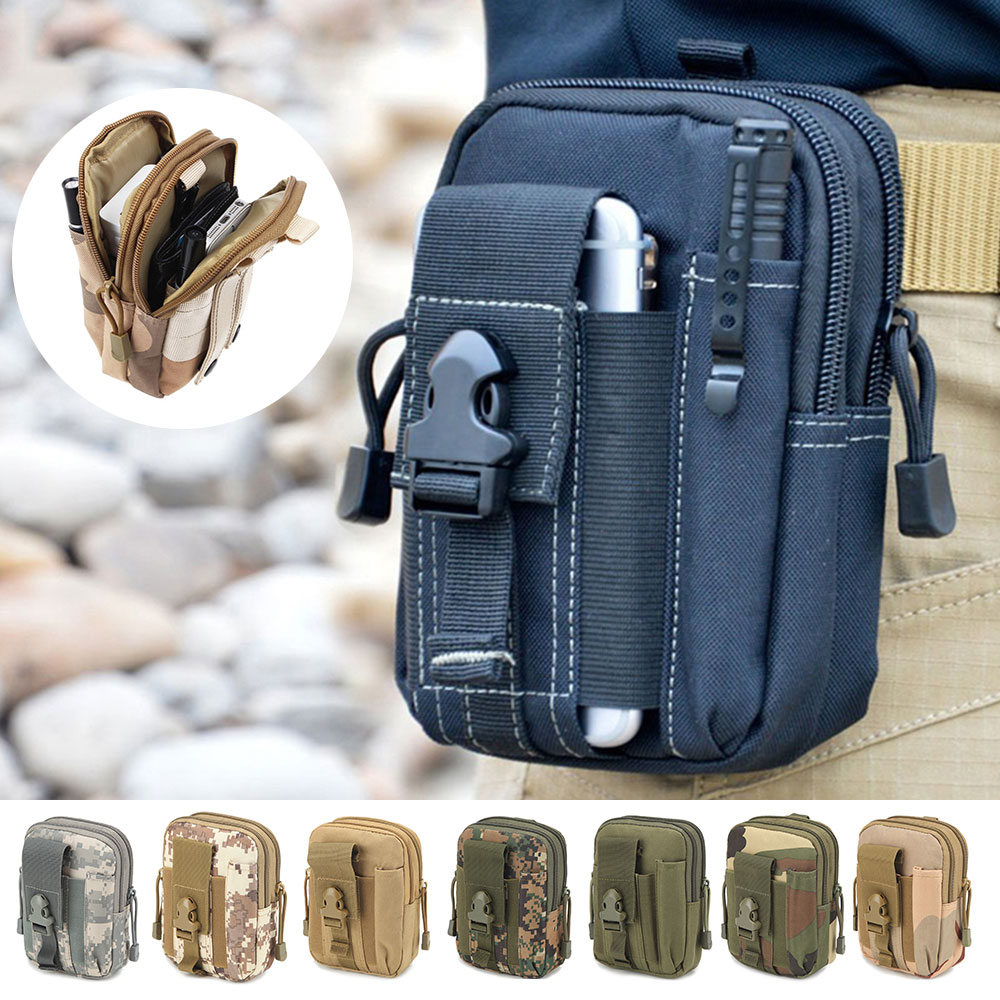 KSQ Universal Outdoor Tactical Holster Military Wallet For Multi Phone Model Belt Pouch Holster Bag Pocket Outdoor Army Cover