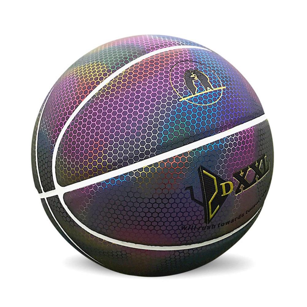 Vente chaude basket-Ball arc-en-ciel pour hommes lumineux coloré intérieur/extérieur balle de jeu