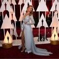 2015 Chrissy Teigen Oscar Long Sleeve Celebrity Dress Vestido De Noche Red Carpet Dress
