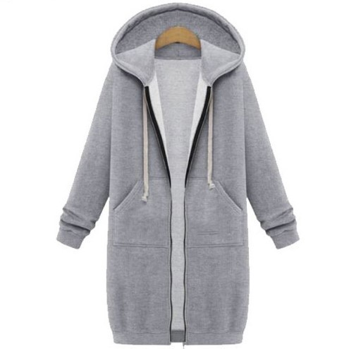 2018 New Winter Europe Plus Long Pure Cashmere Hoodie Coat Female