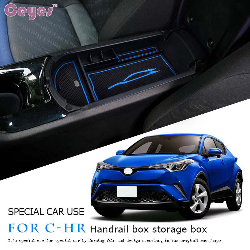 Ceyes Auto Interior Accessories JDM Car Styling Case For Toyota CHR 2017 2018 C-HR Car Central Armrest Box 2016 C HR Car Styling