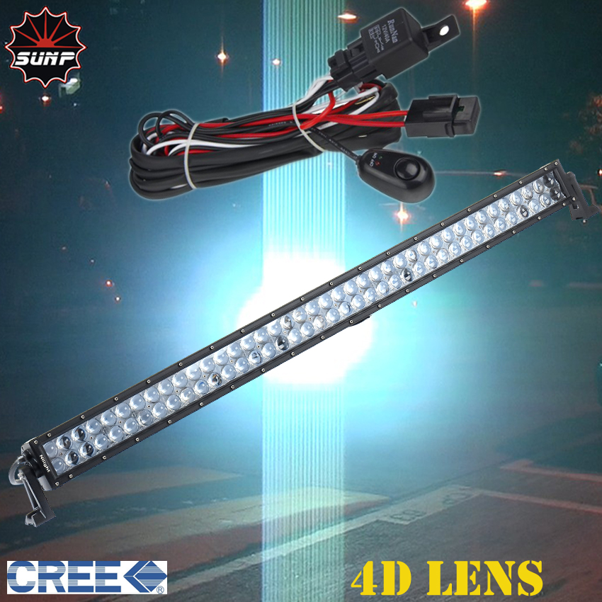 4D LENS 40 INCH 240W CREE LED Driving Work font b Light b font Bar Spot
