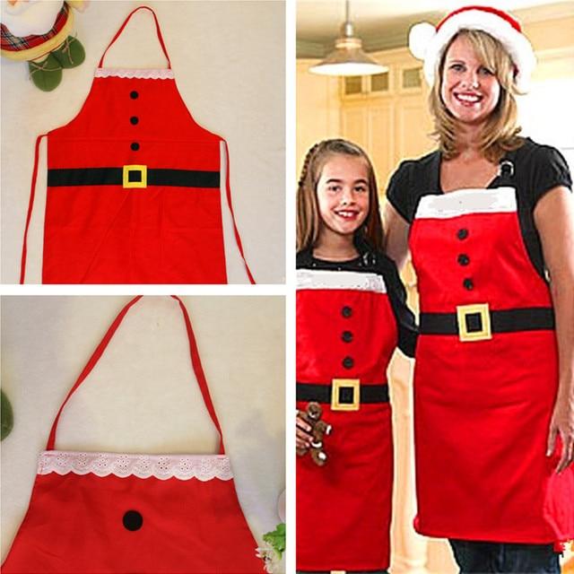1 PC Di Natale Babbo natale Grembiule Decorazione Adulti Delle Donne Di Natale D