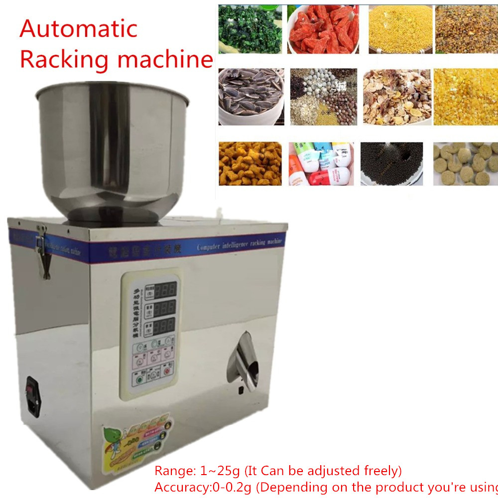 Small Automatic Sorting Machine 1~25g 110/220V 50/60Hz Automatic Granular Weighing Filling/Racking Machine cursor positioning fully automatic weighing racking packing machine granular powder medicinal filling machine accurate 2 50g
