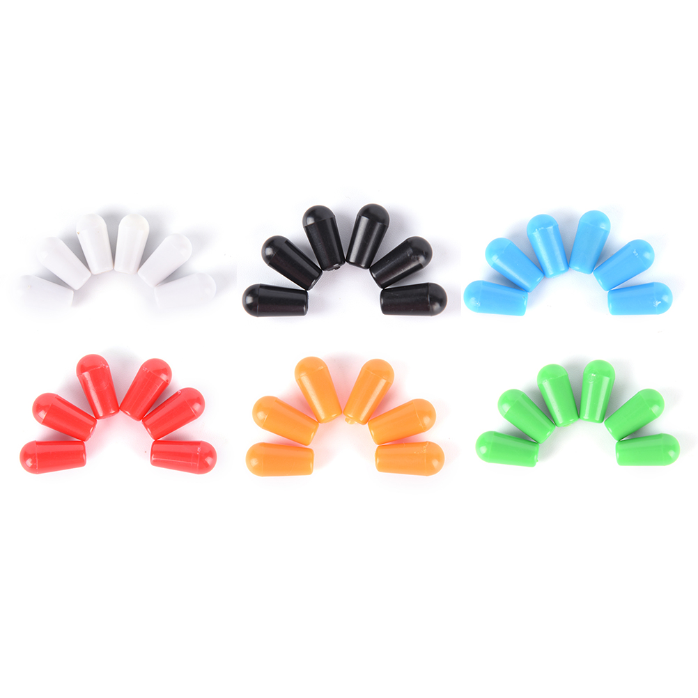 6 Pcs Replacement 3.5mm Plastic Toggle Switch Tip Knob Caps For Electric Guitar