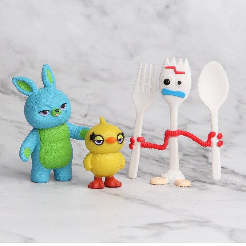 Antecipe o Dia das Crianças e o Natal! Conjunto 7 personagens Buzz Lightyear Woody Jessie Fokry Pato e Coelho Azul sem Caixa 3