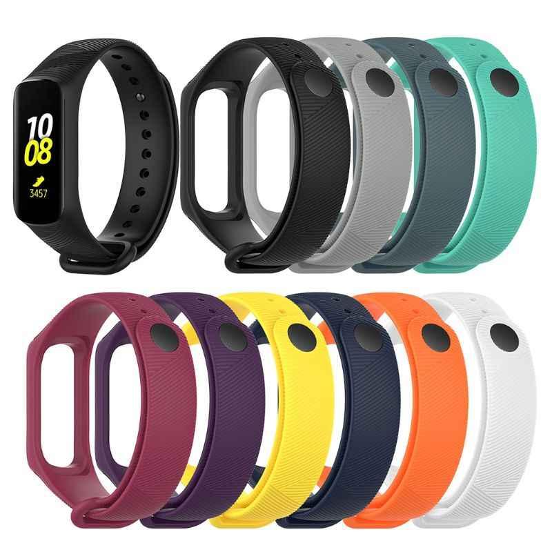 Ремешок для умных часов, ремешок для наручных часов, ремешок для наручных часов, регулируемый браслет из ТПУ, спортивный сменный ремешок для samsung Galaxy Fit-e Smart Band