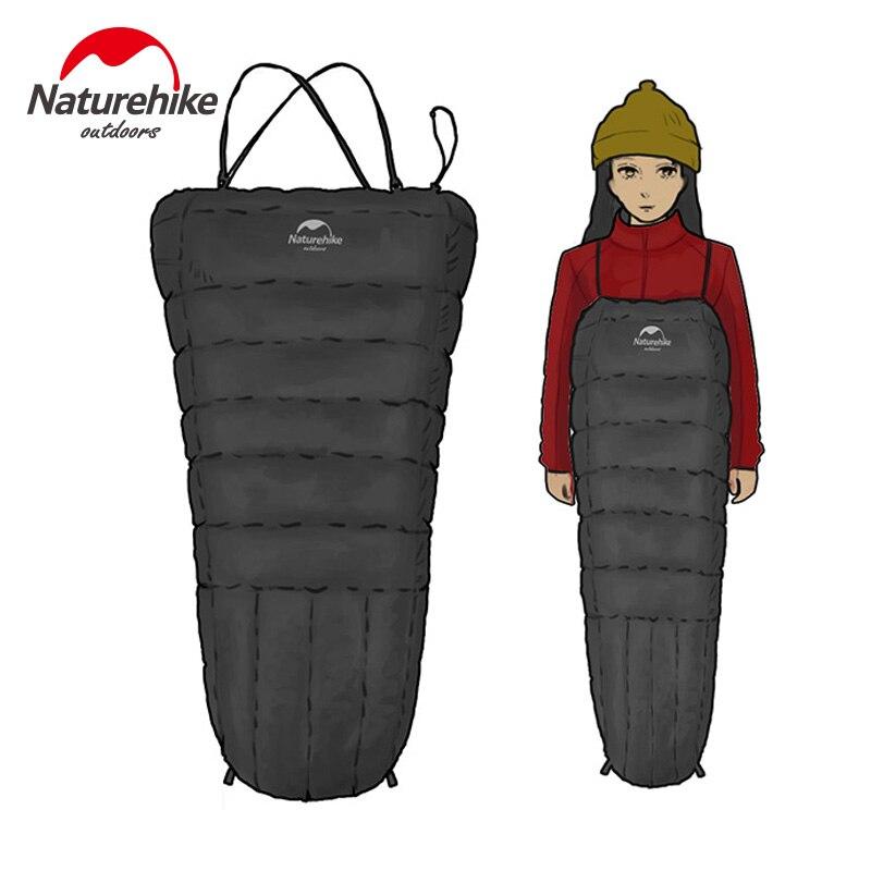 Nature randonnée Portable ultra-léger Camping sac de couchage adulte porte-jarretelle Type canard vers le bas paresseux en plein air sac de couchage NH18D010-P