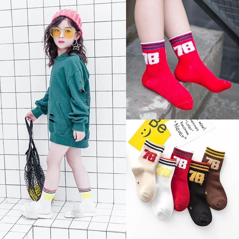 Hart Arbeitend Baby Boy Socken 5 Pairs Kinder Herbst Winter Cartoon Socken Für Mädchen Kinder Für Mädchen Zu Schule Sport
