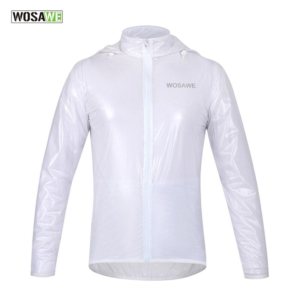 WOSAWE Men Women Cycling Rain Jackets Long Sleeve Waterproof Windproof Bicycle MTB Mountain Road Bike Raincoat Jersey Clothing