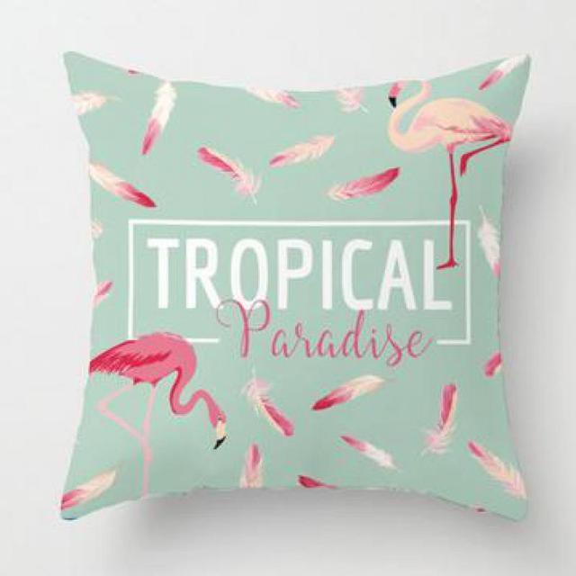 imprimer photo sur oreiller Flamingo Imprimer Taie d'oreiller Plante Tropicale Vert Feuille De  imprimer photo sur oreiller