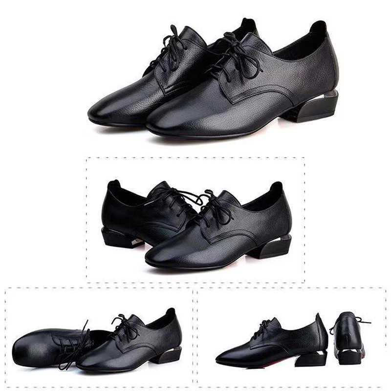 Zanpace Bahar Bayan Botları 2019 Deri yarım çizmeler Yüksek Topuklu Sonbahar Kadın Ayakkabı Rahat Düz Çizmeler Kare Ayak siyah çizmeler