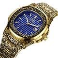 ONOLA marke herren armbanduhren luxus Retro kupfer edelstahl mann uhren quarz platz mode herren uhren wasserdicht-in Quarz-Uhren aus Uhren bei