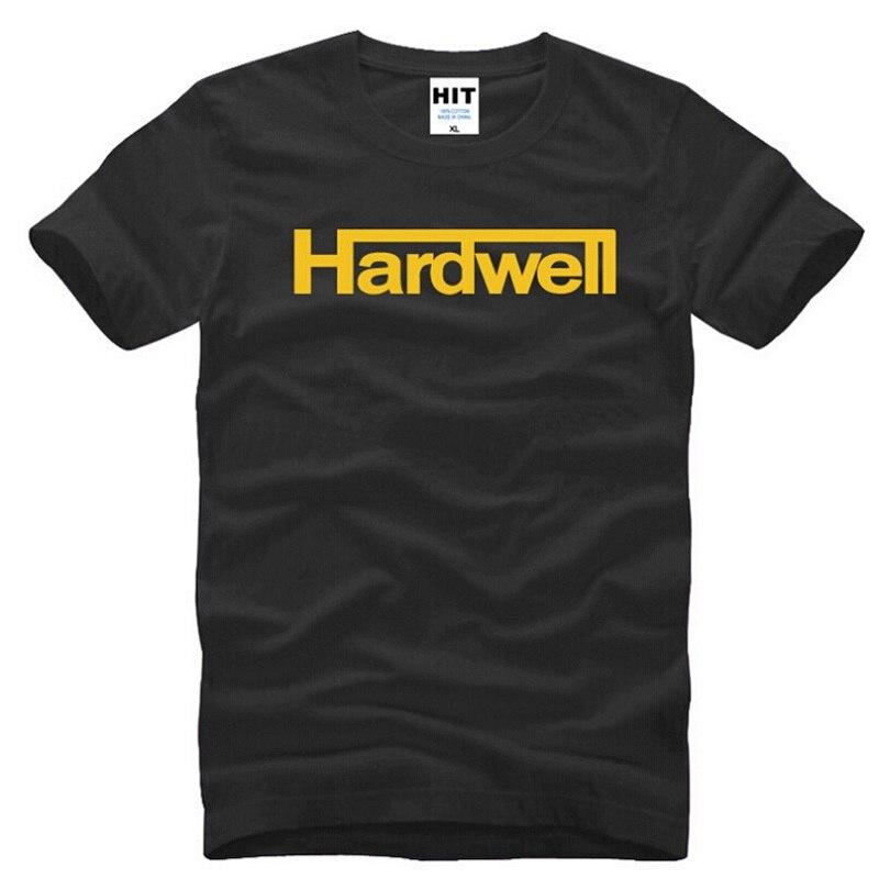 HARDWELL T Shirts Men Fashion Rock GO HARDWELL OR GO HOME Short Sleeve Cotton Men TShirt DJ Music Hip-hop Tee Shirt Fans Clothes
