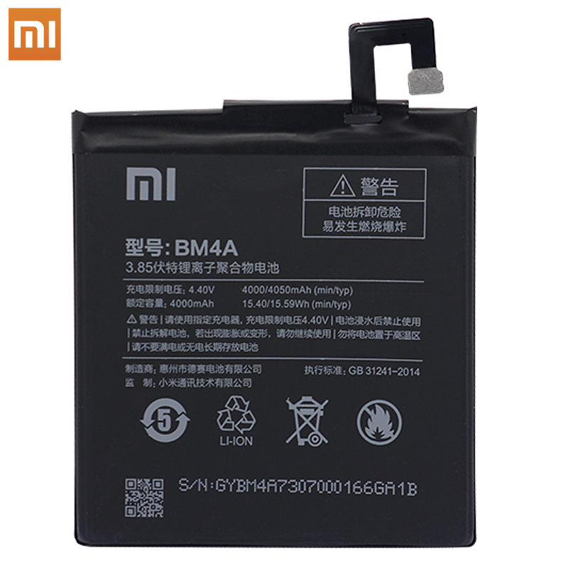 Image 4 - Xiao Mi Phone original Battery 4000mAh BM4A Phone Batteries for Xiaomi Hongmi Redmi Pro Battery+ToolS-in Mobile Phone Batteries from Cellphones & Telecommunications on