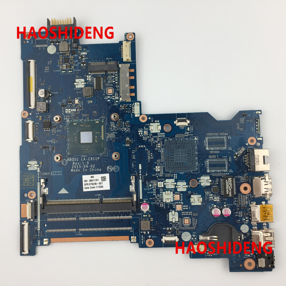 Free Shipping,815249-501 ABQ52 LA-C811P for HP NOTEBOOK 15-AC series Motherboard with N3700 cpu.All functions 100% fully Tested! free shipping 760970 501 zso50 la a992p i5 4210u 2gb main board for 15 r notebook motherboard