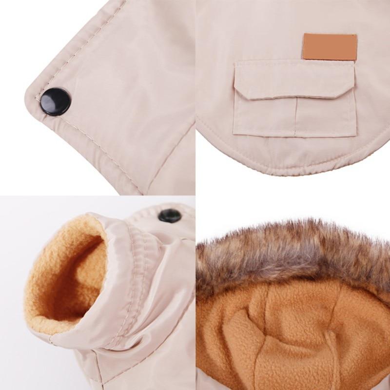 Костюм для домашних собак, зимние теплые парки для собак, одежда для маленьких собак, пуховое пальто чихуахуа, йоркширская одежда, лыжная куртка-4
