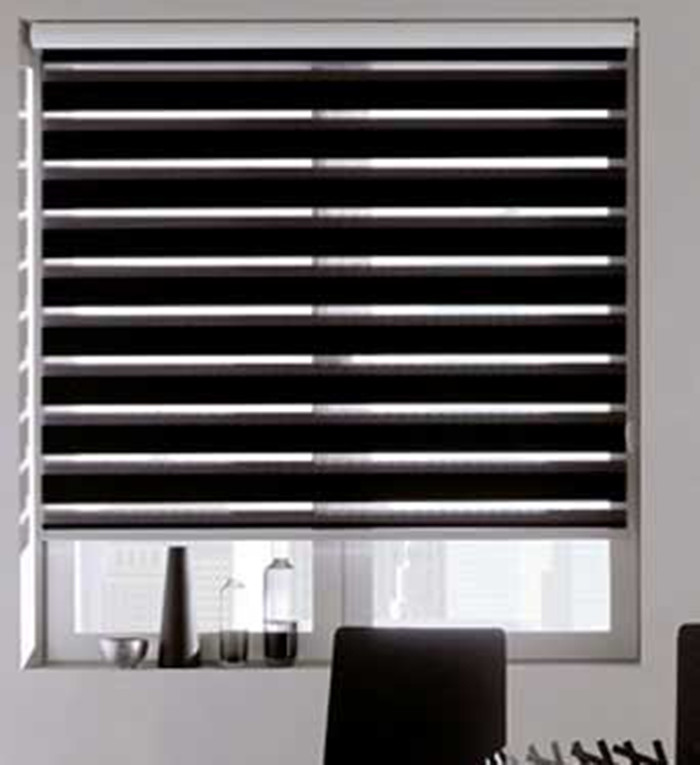 Free shipping quality double layer roller zebra blinds made to order easy to install