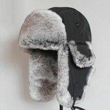 Bomber Hat Rex Rabbit Fur Trapper Hats T
