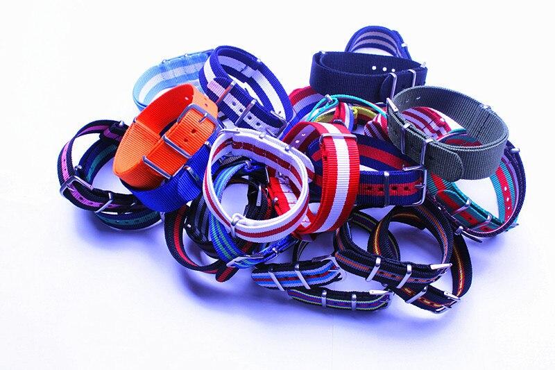 Wholesale 26 pcs/lot  26 colors High quality waterproof watch strap 20MM Nylon Watch band NATO colorful fashion wachband-31227 | Watchbands