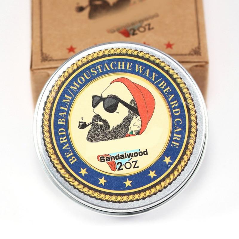 Beard wax 100% Natural Beard Oil Balm Moustache Wax for Styling Beeswax Moisturizing Smoothing Gentlemen Beard 2