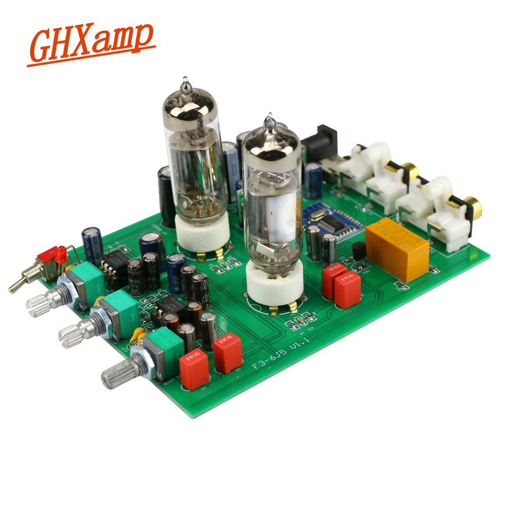 GHXAMP Bluetooth 6J5 <font><b>Tube</b></font> <font><b>Preamplifier</b></font> Tone Board NE5532 Preamp Tweeter Bass Adjust Bile Pre Speakers Amplifier DIY Analog Input image