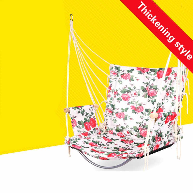 Толстый высококачественный стул для спальни, открытый гамак для дома, Детские одноместные качели