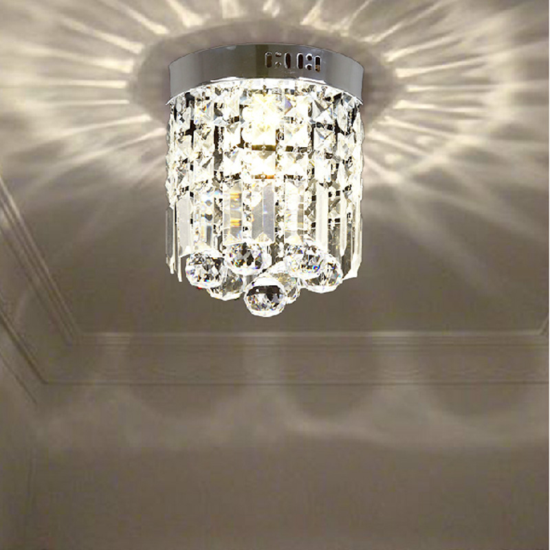 Hall Light Corridor Lamp Modern Round K9 Crystal Ceiling