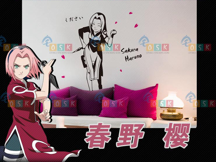 pegatina anime car sticker kishimoto masash