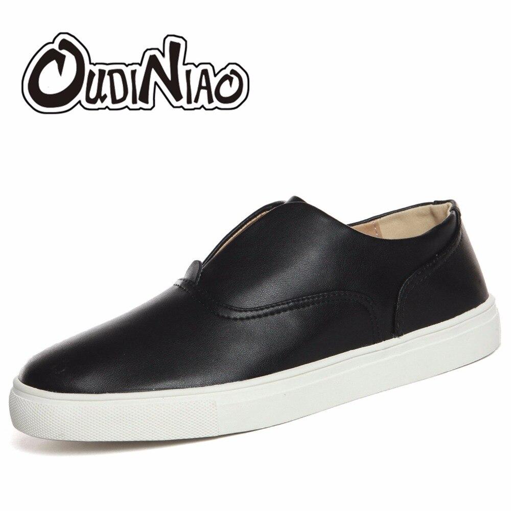 Slip on comfortable men shoes black white luxury b