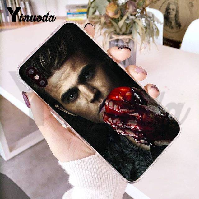 Yinuoda Paul Wesley The Vampire Diaries Transparent Phone Case for iPhone 8 7 6 6S Plus X 10 XS XR SE 5C 411 11pro 11promax