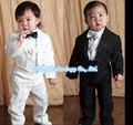Мальчик Пять штук комплект одежды Детей смокинг дети формально свадебный костюм Мальчиков Блейзеры костюмы черного белый 1-4 Год