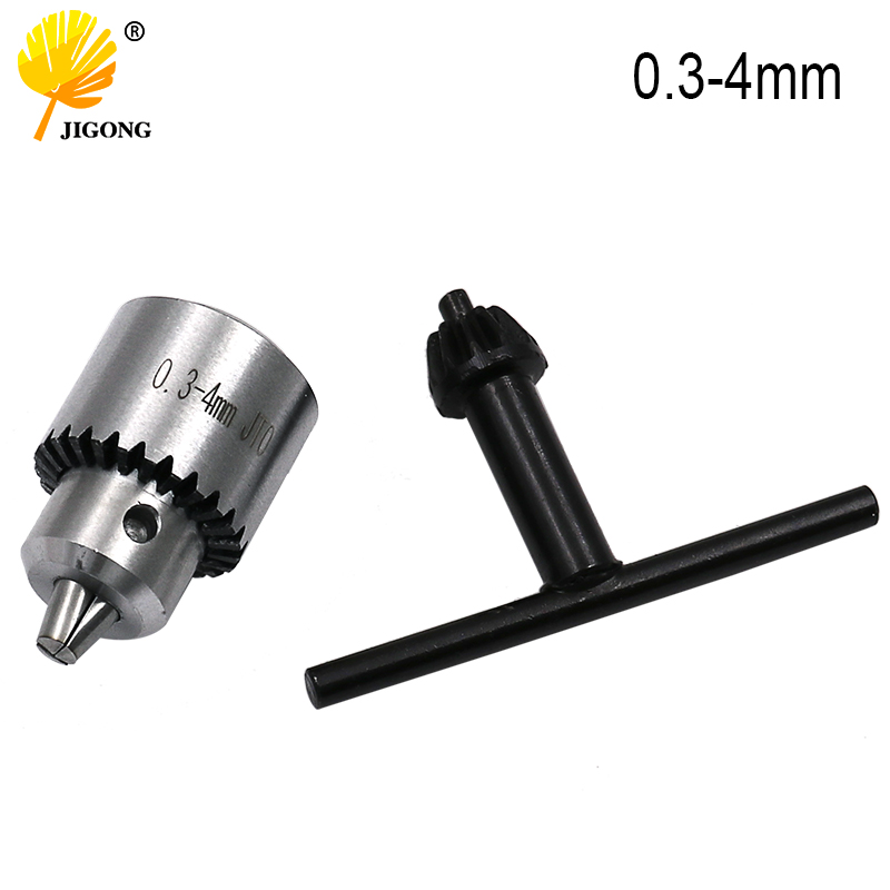 Mini Drill Chuck Key 0.3-4mm Mounted Lathe Chuck Pcb Mini Drill Press Applicable To Motor Shaft Connecting