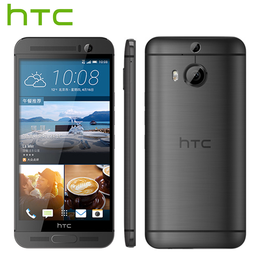 At&t versão htc um m9 mais m9pw 4g lte telefone móvel octa núcleo 2.2 ghz 3 gb ram 32 gb rom 5.2 polegada 2560x1440 câmera dupla celular