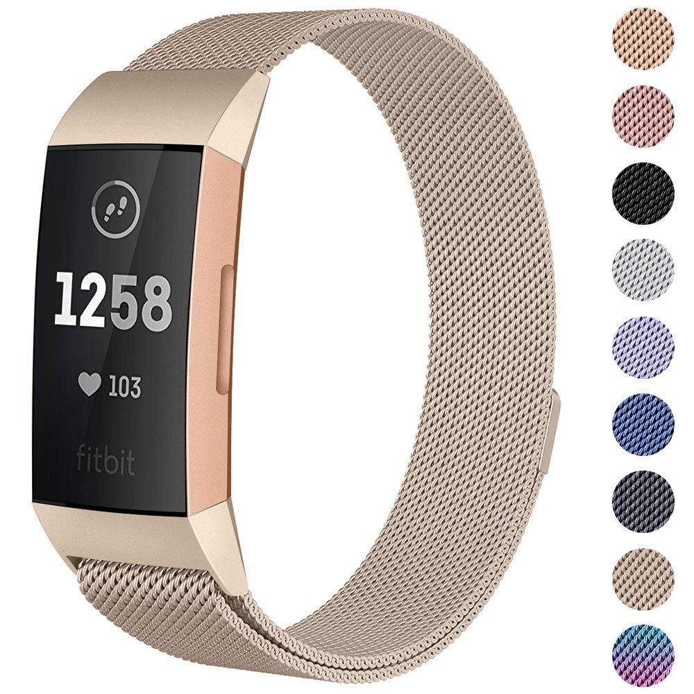 Neue Milanese schleife band Für Fitbit gebühr 3 band strap smart watch armband edelstahl gürtel sport uhr strap handgelenk band
