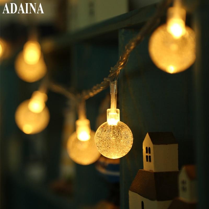"""10M 100 krištolo rutuliai lauko vandeniui pasakų styginių šviestuvai, namų dekoravimas """"Fiestas"""" lempos, """"Garland"""" apšvietimas"""
