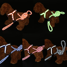Животное Жгут Светоотражающие самопровозглашенной нейлона Breakaway собака ведущих собак проводки жилет для щенок кошка домашние нагрудный поводок