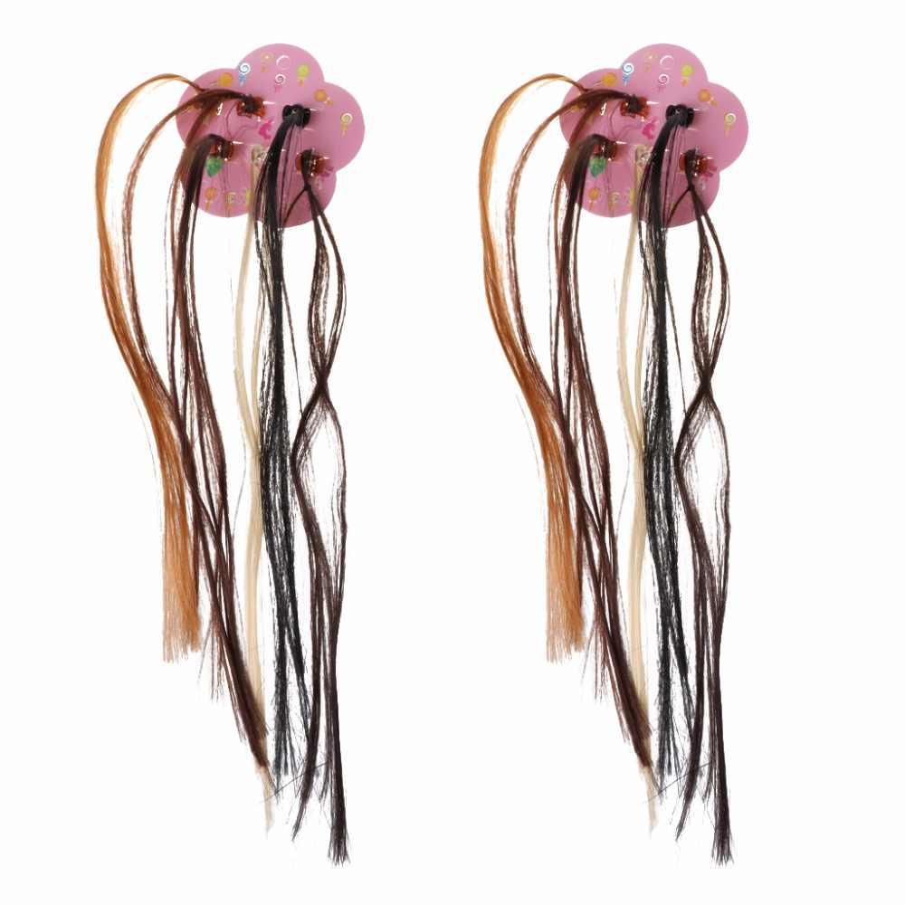 Nieuwe Meisjes Kleurrijke Pruiken Paardenstaart Haar Ornament Haarspeld Schoonheid Haar Clip Hoofddeksels Kinderen Haaraccessoires