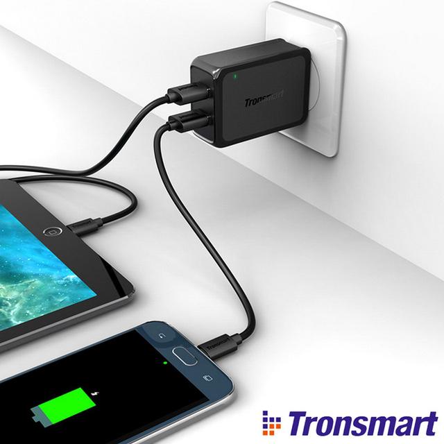 Tronsmart WC2F Carregador de Carga Rápida 2.0 2 Portas USB Carregador de Parede eua/ue plug para samsung galaxy para htc para xiaomi mi3 mi4 nota