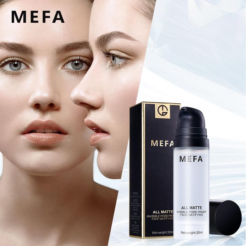 MEFA 30ML Face Base Primer Perfect Invisible Pores Matte Make Up Foundation Pores Brighten Naked Foundation Facial Gel Cosmetic