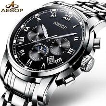 AESOP Top Marque Montre Hommes Étanche Automatique Mécanique Mode Montre-Bracelet Homme Horloge Calendrier Relogio Masculino Hodinky 46