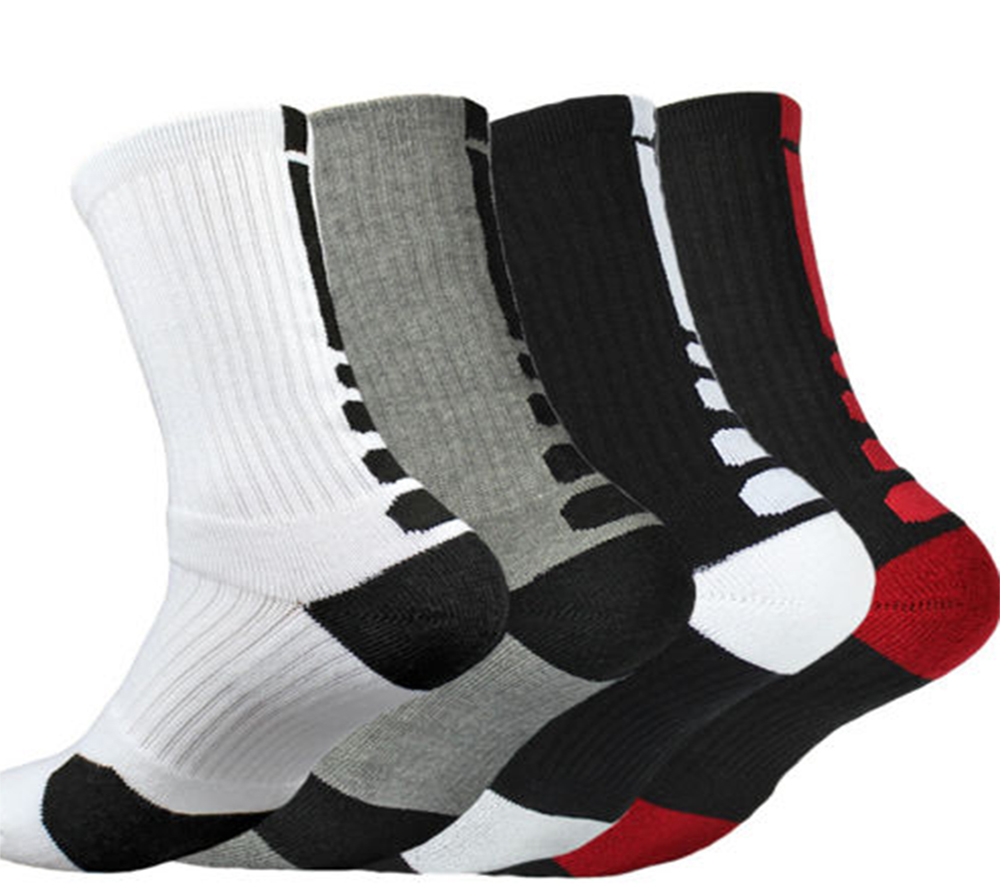 Stylish Thicken Towel Men's Socks Sport Professional Basketball Elite Sock Basketball Sport Socks Cycling Bicycle Bike Socks soumit 5 colors professional yoga socks insoles ballet non slip five finger toe sport pilates massaging socks insole for women