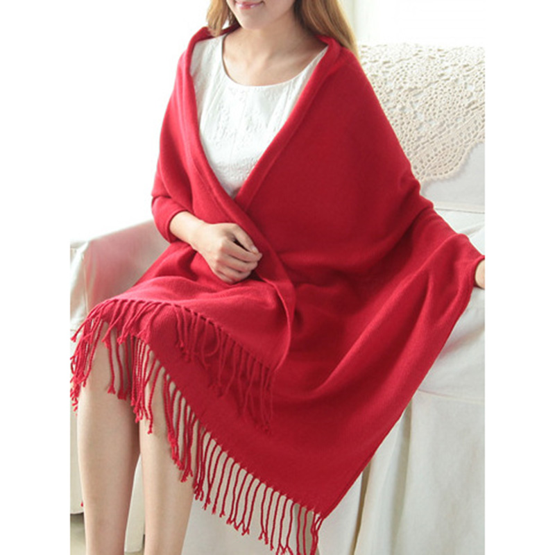 Women's Winter Warm Plaid   Scarves   Tippet Lady Shawls and   Wraps   Long Tassel Female Foulard Blanket Dropshipping