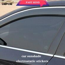שמשייה אוטומטי רכב וילון רכב שמשיה רכב צל אלקטרוסטטי מדבקות 2 יח\חבילה אנטי Uv חום insulationWindow מדבקת 63*42cm