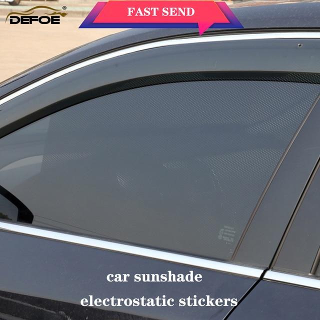 Parasole auto tenda auto auto parasole car ombra adesivi elettrostatici 2 pz/lotto Anti Uv calore insulationWindow sticker 63*42 centimetri