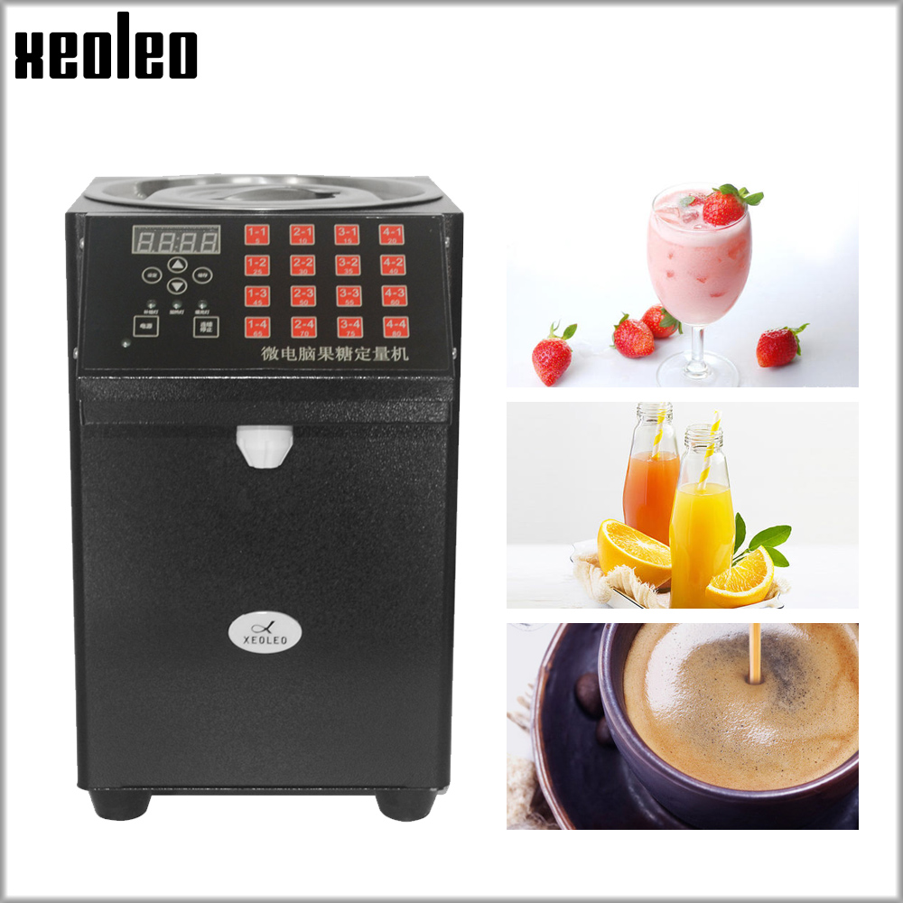 XEOLEO 16 Quantitativa máquina de Frutose Xarope de Frutose Dispenser Automático dispensador de chá Da Bolha loja de chá de Leite Equipamentos levulose
