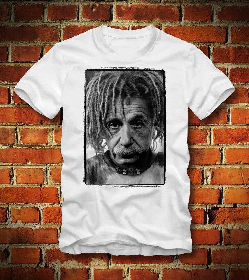 e4f97275b Camiseta Albert Einstein Rasta Geek Nerd Physik Gravitationswellen 2019  Roupa Nova Marca de Moda O-